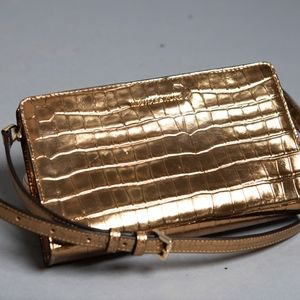 Gold Michael Kors Cross Body